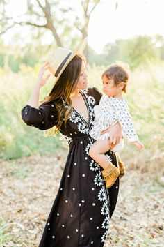 free people black embroidered dress boho mommy and me mother daughter outfit matching what to wear for mommy and me session styled shoot boho mother daughter outfit inspo