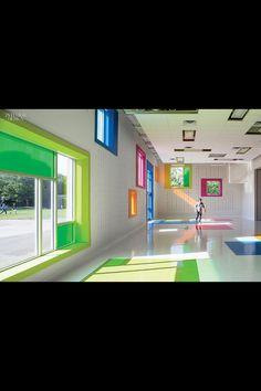 Rainbow Room Taylor Smyth Architects Addition To West Preparatory Junior Public School Toronto