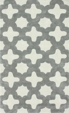 "Rugs USA Keno Nava Trellis Slate Rug - $552 for 7'6"" x 9'6"", $703 for 8'3"" x 11'. Everyone says this rug is so soft! It comes in yellow room which would really brighten up a room!"