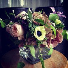 bella fiori - anemones, garden roses, clematis and hydrangea