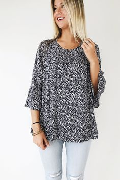Blue Floral Babydoll Top | ROOLEE #beautyfashion