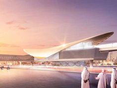 Route from Nakheel Harbour station to the Expo 2020 site near Al Maktoum International Airport to have five elevated stations with futuristic designs Expo 2020, Croydon, Futuristic Design, International Airport, Dubai, Places To Visit, Real Estate, News, Building