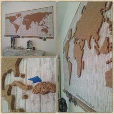 Diy cork map