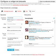 Socializa tu Página Web Botones, plugins y widgets oficiales de Twitter widget buscar