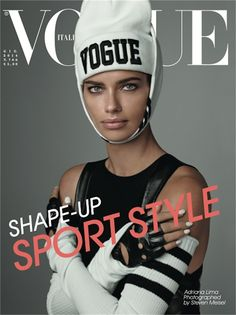 Adriana Lima by Steven Meisel on Vogue Italia Cover for June 2014