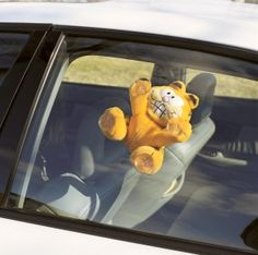 Nothing like suctioning Garfield to your car.