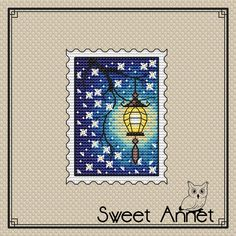 counted cross-stitch double-sided kit on the plastic canvas MP Studia Chechire Cat
