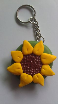 sunflower keyring by lecielrouge, via Flickr