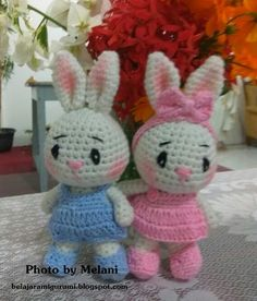 Pola amigurumi kelinci gratis Pola oleh Melani Facebook: Yekkia Moniq  (https://www.facebook.com/yekkiamoniq.sayitwithcookies) Instagr...