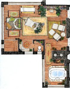 Floor plans floors and fine art on pinterest Rendering floor plans