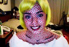Pop Art, Comic makeup, yay a cool reason to use my yellow wig!