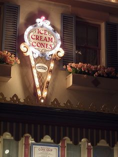 Storefront- Disneyland Resort, Anaheim, California Ice Cream Shop