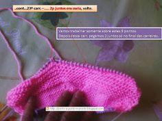 Já postei a receita deste sapatinho, aqui (sapatilha rosa e branca enfeitada com rendinha) . Mas como agora o bebê já cresceu e dá pass...