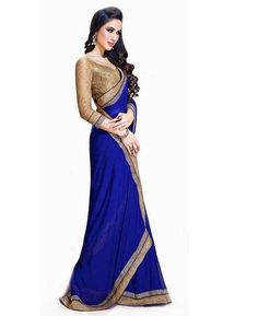 Buy Nice Blue Casual Sarees online at  https://www.a1designerwear.com/nice-blue-casual-sarees-4  Price: $10.84 USD