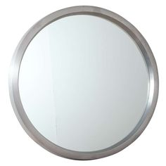 """Cast Brushed Aluminum ALCOA """"O"""" Mirror   From a unique collection of antique and modern wall mirrors at https://www.1stdibs.com/furniture/mirrors/wall-mirrors/"""