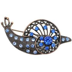 Sapphire Snail Pin Brooch Fantasyard. $10.99. Gift box available for an additional fee. Please check out through gift-wrap option. Exquisitely detailed designer style. Other color available