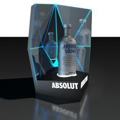 Vodka Display Concepts for Nightclub by James Newton Taylor, via Behance