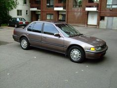 1992 Honda Accord. Twin to this one. Bought it from a customer with rear door damage and drove it that way. It was a good little car and fantastic on gas with the 5 speed..