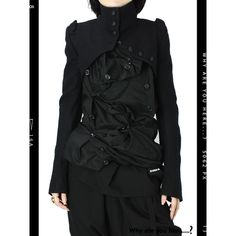 ANN DEMEULEMEESTER ショートジャケット【Why are you here?】販売・通販 アンドゥムルメステール found on Polyvore  mesfringues.blogspot.com