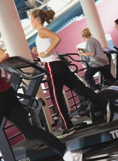 Simple, but I always forget that this is so much more effective then a 30 min job on that god awful treadmill.  Cardio Workout: Treadmill Pyramid Intervals - www.fitsugar.com