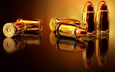 Download wallpapers golden bullets, 4k, close-up, cartridges, bullets