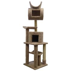 Wood Cat Tree Scratching House Sisal Posts, Brown Carpet *** Awesome cat product. Click the image : Cat scratching post