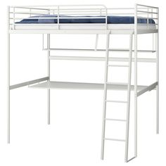 Bedding, Bunk Beds With Desk Ikea Bunk Bed With Double Side Rails Loft Bed Ideas Single Bedding Mattress With Cover White Metal Bed Frames Single Bedding Sheets Storage Desk Underneath Ikea Loft Beds Furniture: Modern Bunk Beds with Desk Ikea #DoubleBedSheets
