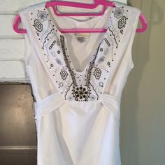Public Fusion Dress Excellent condition lined 100 percent cotton size med. 34 in bust 33 in long ties in back great for summer Public Fusion  Dresses Midi