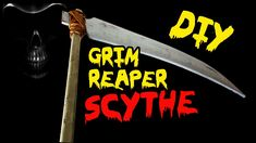 How to Make a Grim Reaper Scythe Prop, DIY Halloween Decorations