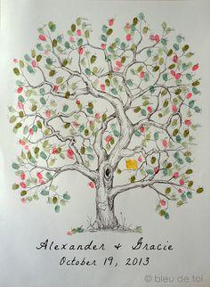 Alternativa de libro de huéspedes de la boda árbol de por bleudetoi