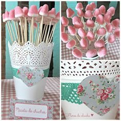 "Celebra con Ana: ♥ Gran cumple ""Mi Taller Shabby… – – Baby Shower Ideas for Boys – Grandcrafter – DIY Christmas Ideas ♥ Homes Decoration Ideas Ballerina Birthday, Unicorn Birthday Parties, Unicorn Party, Diy Birthday, Idee Baby Shower, Girl Shower, Candy Table, Candy Buffet, Shower Party"