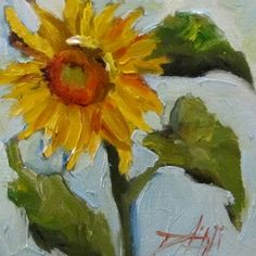 Cheerful+Sunflower,+painting+by+artist+Delilah+Smith
