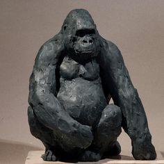 Sculpture modelage gorille gorilla