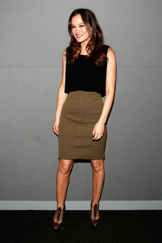 pencil skirt outfits | ... Meester Pencil Skirt - Leighton Meester Dresses & Skirts - StyleBistro