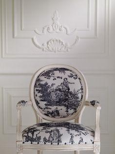 TIDBITS TWINE Toile Chair Textile Spotlight: Timeless Toile