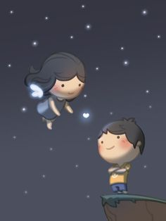 Check out the comic HJ-Story :: Angel Cute Love Stories, Love Story, True Stories, Desenhos Love, Hj Story, Cute Love Cartoons, Old Images, My Funny Valentine, Couple Cartoon