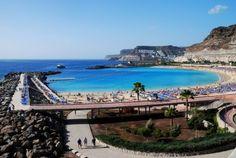 Playa de Amadores, Puerto Rico, Gran Canaria. that water is incredible looking! crystal blue!!