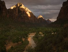 Storm Light, Gates of Zion by michaelanderson  Zion National Park, Utah.