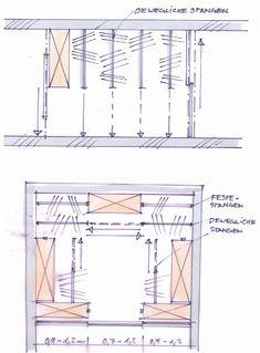 Schiebestangen Loft Closet, Attic Loft, O Design, Interior Design, Attic Wardrobe, Wardrobes, Home Organization, Floor Plans, How To Plan