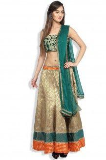 Green & Gold Lehenga  Rs. 12,000