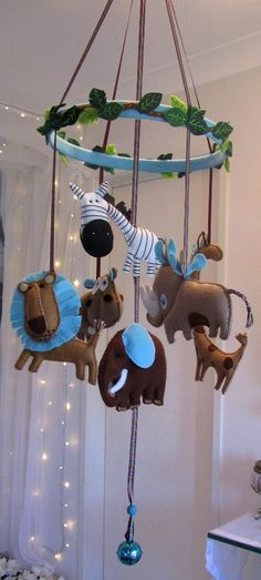 African Animals Nursery Mobile