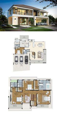 All Time Modern House Designs – My Life Spot House Layout Plans, Dream House Plans, Modern House Plans, House Layouts, House Floor Plans, Minimalist House Design, Minimalist Home, Modern House Design, House Blueprints