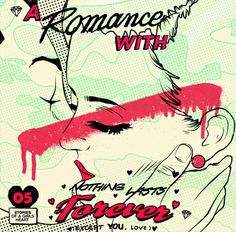 A Romance With. (pale) #popart retro #graffiti screenprint #illustration #streetart kiss love woman man #rockabilly #comic 50s 60s #pinup