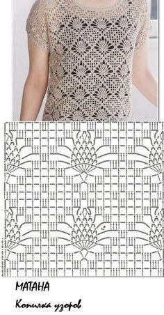 Diy Crafts - Fabulous Crochet a Little Black Crochet Dress Ideas. Georgeous Crochet a Little Black Crochet Dress Ideas. Gilet Crochet, Crochet Cardigan Pattern, Crochet Stitches Patterns, Crochet Blouse, Knitting Patterns, Crochet Sweater Design, Crochet Diagram, Crochet Chart, Crochet Motif