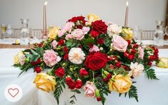 Top table wedding floral arrangement
