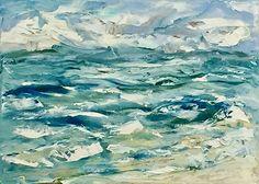 Brightened Beach by Alma Lee Oil ~ 11 x 14