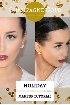 Champagne Gold Holiday Makeup Tutorial