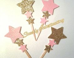 Star Cupcake Toppers in Mini Size. Ships in by ConfettiMommaParty