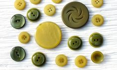 23 Fancy Plastic Vintage Buttons in Shades of by wehavegoodtaste