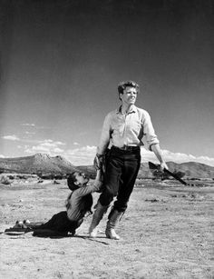 Audrey Hepburn and Burt Lancaster